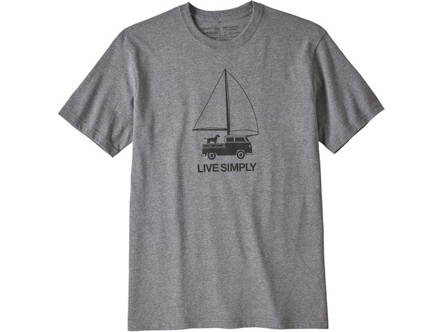 Patagonia Live Simply Wind Powered Camiseta responsable Hombre, gravel heather
